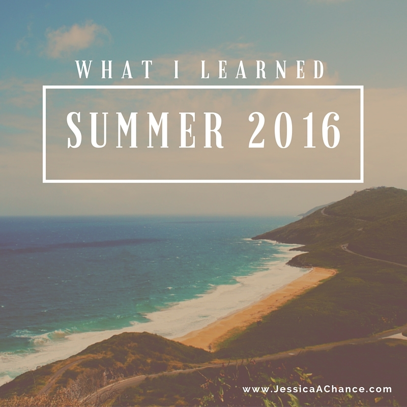 What i learned - summer