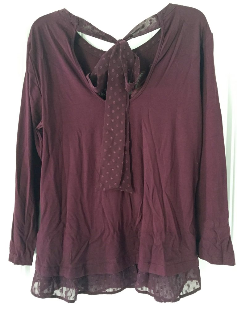 Daniel Rainn Karan Embroidered Yoke Woven Hem Knit Top - www.JessicaAChance.com